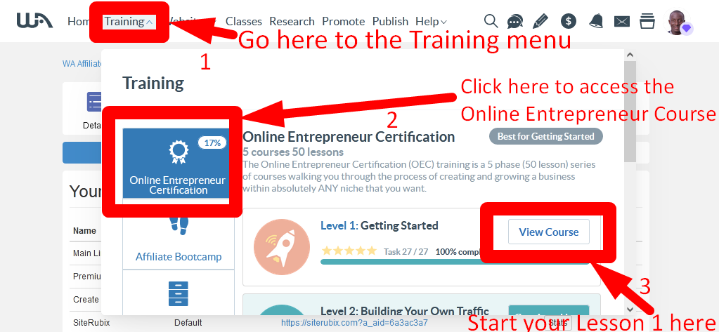 Follow up with the step by step training