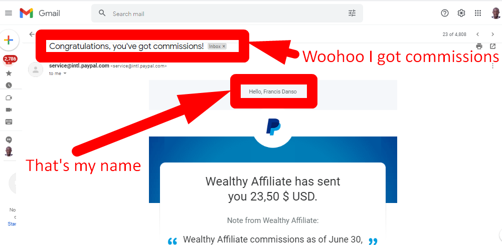 A second look at my $23.50 earning with Wealthy Affiliate