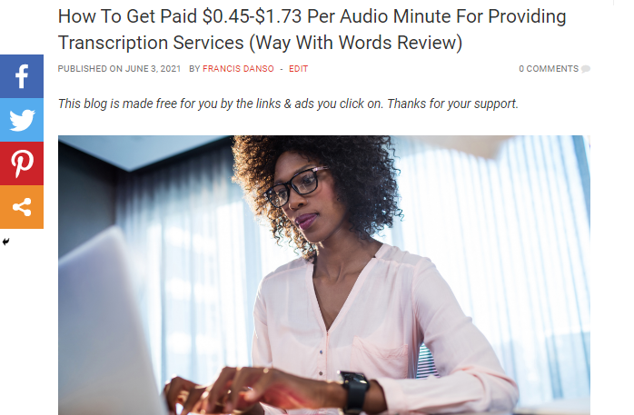 How To Get Paid $0.45-$1.73 Per Audio Minute For Providing Transcription Services (Way With Words Review)