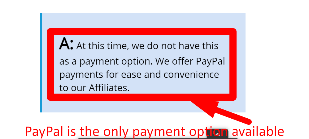 Bluehost affiliate commissions are paid via PayPal