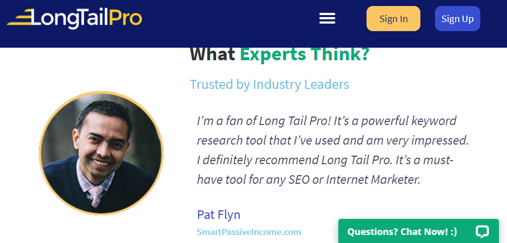 Checkout What Pat Flyn Of Smartpassiveincome.com Has To Say About Long Tail Pro