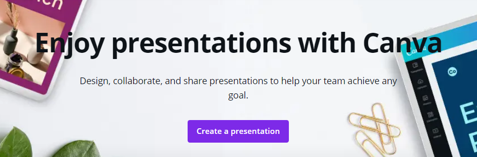 Design beautiful presentations with Canva